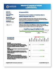 Behavioral Competency Analysis Sample